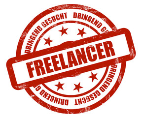 Sternen Stempel rot rt FREELANCER