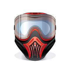 Red paintball mask