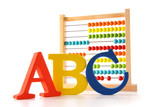 Fototapety ABC letters with abacus on white