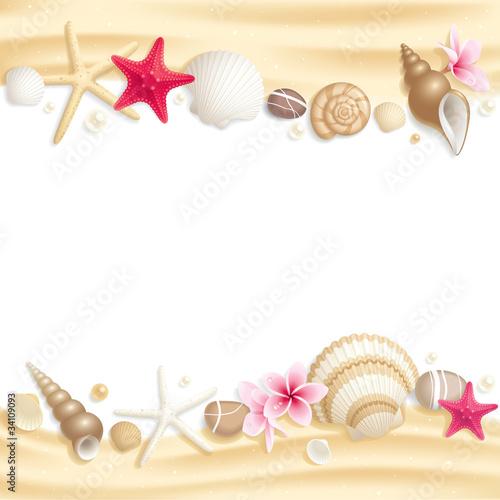 Fototapeta Seashell frame