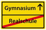 Wechsel von Realschule zu Gymnasium Zeichen Schild poster