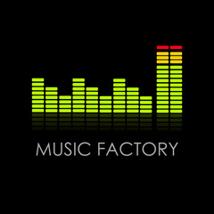 Logo music factory # Vector
