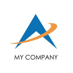 Logo up arrow, success and mountains # Vector