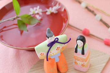 雛人形と祝い酒
