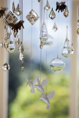 Close-up of a wind chime