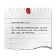 Recorte de papel texto ACCOUNTABILITY