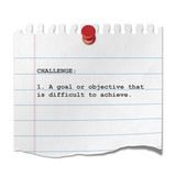 Recorte de papel texto CHALLENGE poster