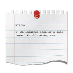 Recorte de papel texto VISION