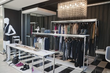 Interiors of a clothing store