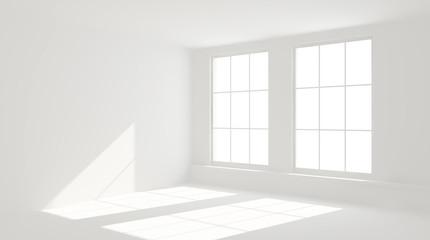 Interno vuoto con 2 finestre