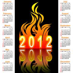 American calendar 2012.