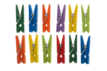 Colorful clothespins