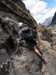 via ferrata - rock path exploration