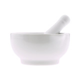 a mortar and pestle on white background
