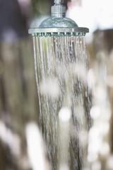 Close-up of a running shower