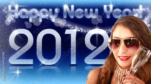 Happy New Year 2012 - Diva Blau