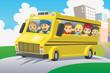 Detaily fotografie Děti ve školním autobuse