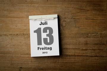 Freitag der 13 Juli 2012