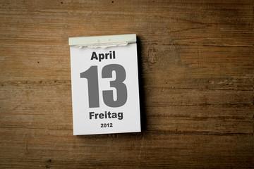 Freitag der 13 April 2012