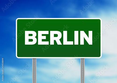 Berlin Road Sign
