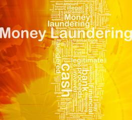 Money laundering background concept