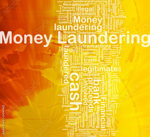 Money laundering background concept