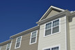 Attached townhomes roof line