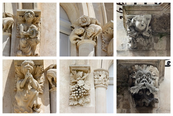 Collage of Statues