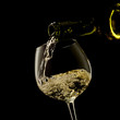 white wine on a black background