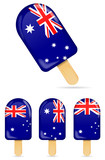 classic Australia flag ice cream bar or ice pop