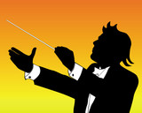 silhouette of conductor poster