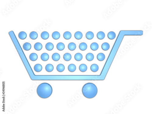 shopping cart 3d logo