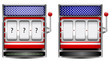 abstract america slot machine isolated on white background