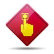 Señal roja simbolo boton de alarma