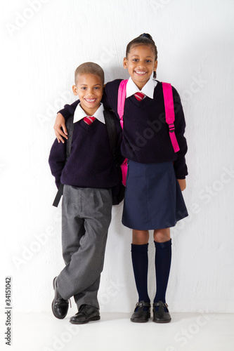 two primary school students