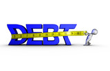 Reducing debt poster