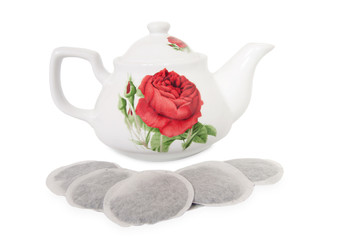 teapot teabags tea bag breakfast ceramic porcelain çaydanlık