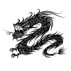 Black Chinese Dragon