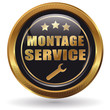 Montage Service - Button gold