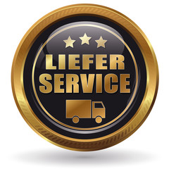 Lieferservice - Button gold