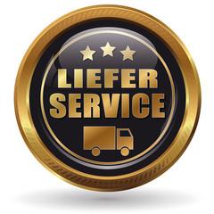 Lieferservice - Button gold
