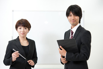a portrait of asian businessteam