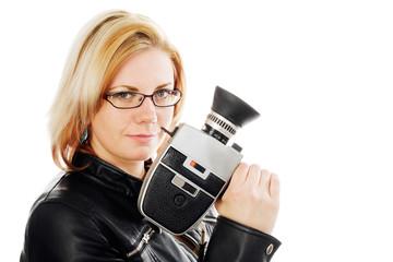 Frau mit Kamera