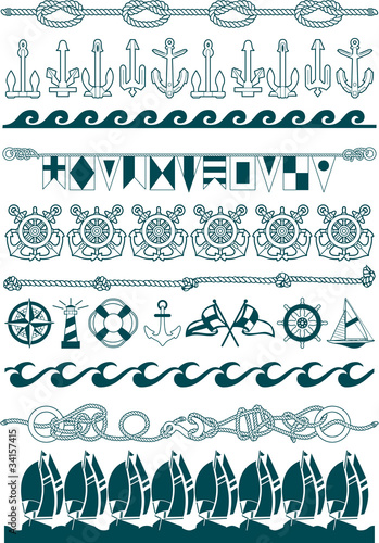 Nautical vector borders