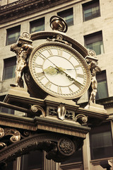 Old street clock in downtown Pittsburgh