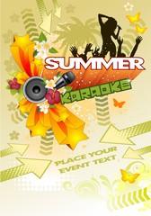 Summer karaoke beach vert