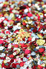 close up of sequins