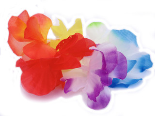 Pulsera de flores de tela hawai