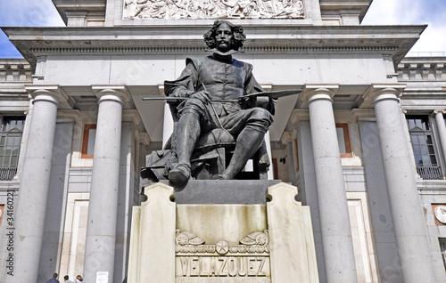 Fotobehang Madrid Diego Velazquez Denkmal, Madrid