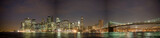 Manhattan skyline and Brooklyn bridge, NY